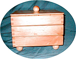 3 Tier Wooden Jewelry Box