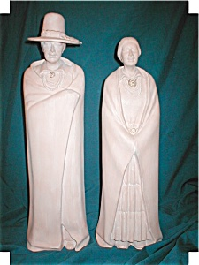 Pair Of Southwestern Decorative Statue Figurines