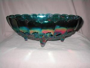 Carnival Glass Footed Dish (Image1)