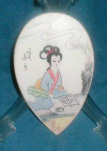 Porcelain  Tear-drop Shaped Paperweight (Image1)