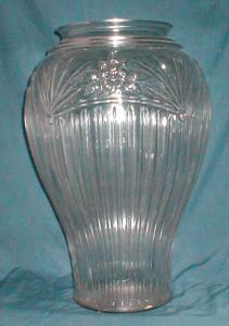 Achor Hocking Large Clear Glass Vase