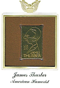 James Thurber 22kt Gold Replica Stamp (Image1)