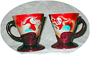2 Linda Firchtel Footed Tea Cups (Image1)