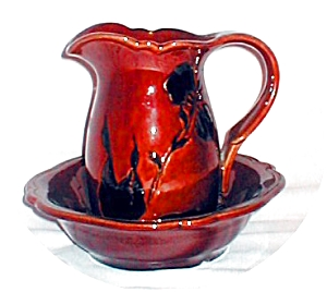 Royal Haeger Miniature Pitcher & Basin (Image1)