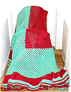 King Size Handmade Crocheted Afghan (Image1)