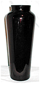 Vintage Ruby Red Glass Vase (Image1)