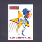 Click here to enlarge image and see more about item 14-GRIFFEY: 1992 SCORE ALL-STAR (CARICATURE OF KEN)