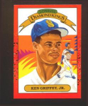 Click here to enlarge image and see more about item 3-Griffey: 1989 DONRUSS DIAMOND KING