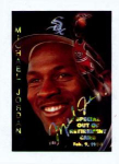 Click here to enlarge image and see more about item 315-JORDAN: 1995 SPORTS STARS USA OUT OF RETIREMENT CARD