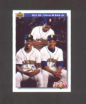 92 UPPER DECK FEATURES KEN JR, KEN SR., AND CRAIG GRIFFEY