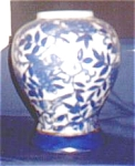 Blue Bird China Vase