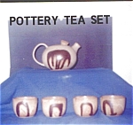 Click here to enlarge image and see more about item 413: Pottery Tea Set