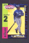 Click here to enlarge image and see more about item 85-GRIFFEY: 1995 COLLECTOR'S CHOICE SILVER CRASH THE GAME GAMEPIECE
