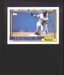 Click here to enlarge image and see more about item 9-Griffey: 1992 TOPPS