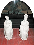 Click to view larger image of Porcelain Oriental Couple Figurines (Image1)