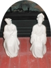 Click to view larger image of Porcelain Oriental Couple Figurines (Image2)
