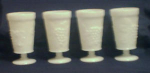 Click here to enlarge image and see more about item POCS104: 4 Milk Glass Goblets