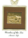 Click here to enlarge image and see more about item POCS1061: 22kt Gold Foil Marine Life Stamp