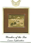 Click to view larger image of 22kt Gold Foil Ocean Exploration Stamp (Image1)