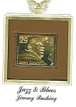 Click here to enlarge image and see more about item POCS1066: 22kt Gold Foil Jimmy Rushing Stamp
