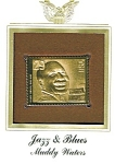 Click to view larger image of 22kt Gold Foil Muddy Waters Stamp (Image1)