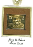 Click here to enlarge image and see more about item POCS1070: 22kt Gold Foil Bessie Smith Stamp