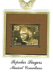 Click here to enlarge image and see more about item POCS1071: 22kt Gold Foil Al Jolson Stamp