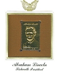 Click to view larger image of 22kt Gold Foil Abraham Lincoln Stamp (Image1)