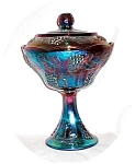 Click here to enlarge image and see more about item POCS1117: Carnival Glass Compote