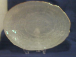 Click here to enlarge image and see more about item POCS121: Large Frosted Glass Platter