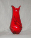 Click here to enlarge image and see more about item POCS160: Elegant Red/Black Swirl Vase