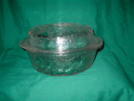 Click here to enlarge image and see more about item POCS195: Glass Covered Pot