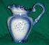 Click to view larger image of Large Flow Blue Pitcher and Basin (Image8)