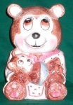 Click here to enlarge image and see more about item POCS239: Weiss Mother Bear Cookie Jar