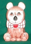 Click here to enlarge image and see more about item POCS240: Weiss Bow-Tie Bear Cookie Jar