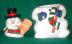 Click to view larger image of Cooks Club Snowman Figural Cookie Jar (Image2)