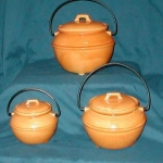 Click here to enlarge image and see more about item POCS257: 3 Piece  California Bean Pot Canister Set