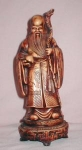 Click here to enlarge image and see more about item POCS274: Oriental Wiseman Figurine