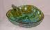 Click to view larger image of Green Carnival Glass Berry Pattern Bowl (Image2)