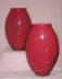 Click to view larger image of Large Red Glass Vase (Image2)