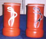 Click here to enlarge image and see more about item POCS54: VASES (MATCHING ORIENTAL PAIR)