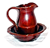 Click to view larger image of Royal Haeger Miniature Pitcher & Basin (Image2)