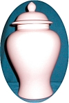 Click here to enlarge image and see more about item POCS605: Pink Haeger Ginger Jar