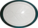 Click here to enlarge image and see more about item POCS770: White Ceramic Meat Platter