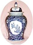 Click here to enlarge image and see more about item POCS800: Huge Blue & White Ginger Jar