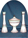 Click here to enlarge image and see more about item POCS805: Royal Haeger Compote & Candlesticks Set