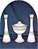 Click to view larger image of Royal Haeger Compote & Candlesticks Set (Image2)