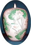 Click here to enlarge image and see more about item POCS813: Floral Enamel Painted Ginger Jar