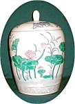 Click here to enlarge image and see more about item POCS819: Water Lily Ginger Jar