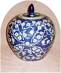 Click here to enlarge image and see more about item POCS820: Floral Oriental Ginger Jar